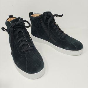 New Vionic Jenning Black Suede Comfort Sneakers